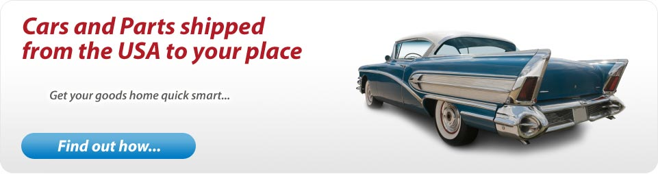 American cars and parts shipped to you.